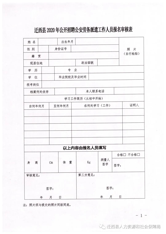 2020年河北唐山迁西县招聘公安劳务派遣工作人员25人公告